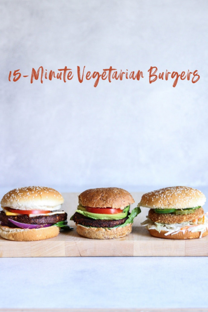 10 10-Minute Vegetarian Burger Dinner Recipes - recipes vegetarian burgers
