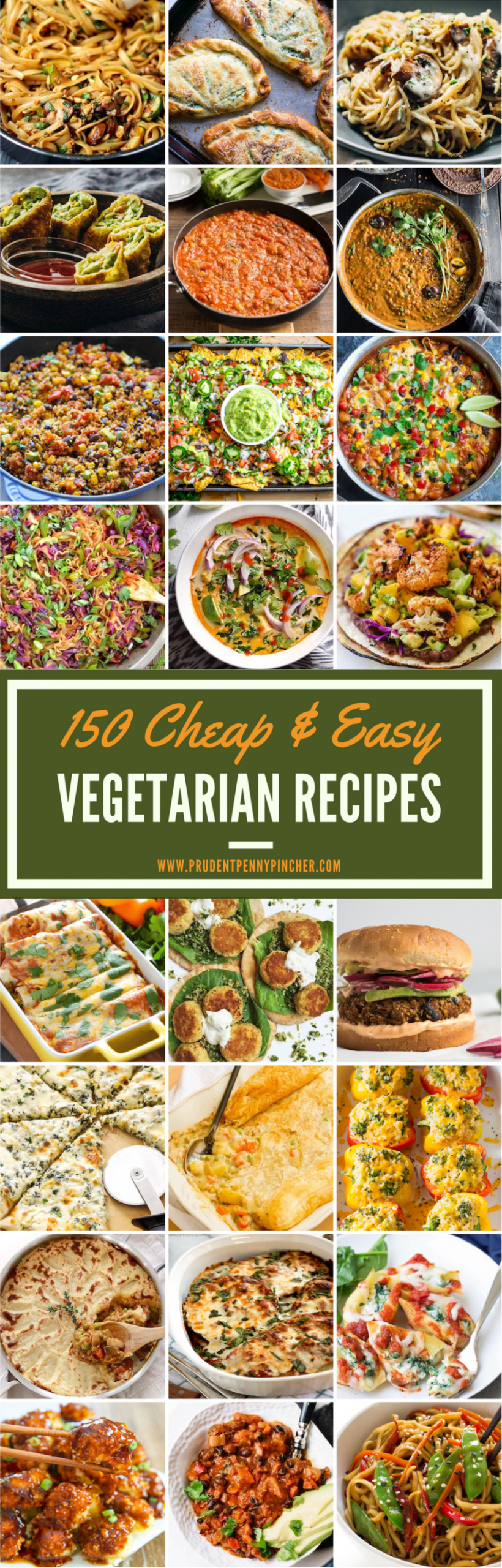 10 Cheap And Easy Vegetarian Recipes - Prudent Penny Pincher - Cheap Easy Kid Friendly Vegetarian Recipes