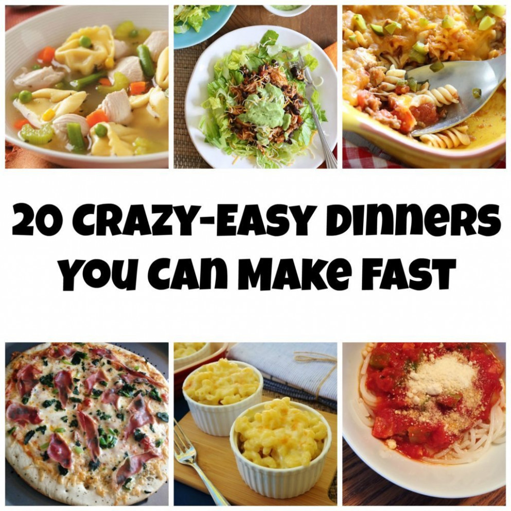 10 Crazy Easy Dinners You Can Make Fast - Carrots 'N' Cake - Ibs Recipes Dinner