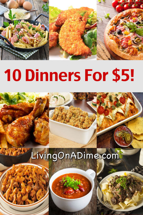 10 Dinners For $5 - Cheap Dinner Recipes And Ideas - food recipes cheap