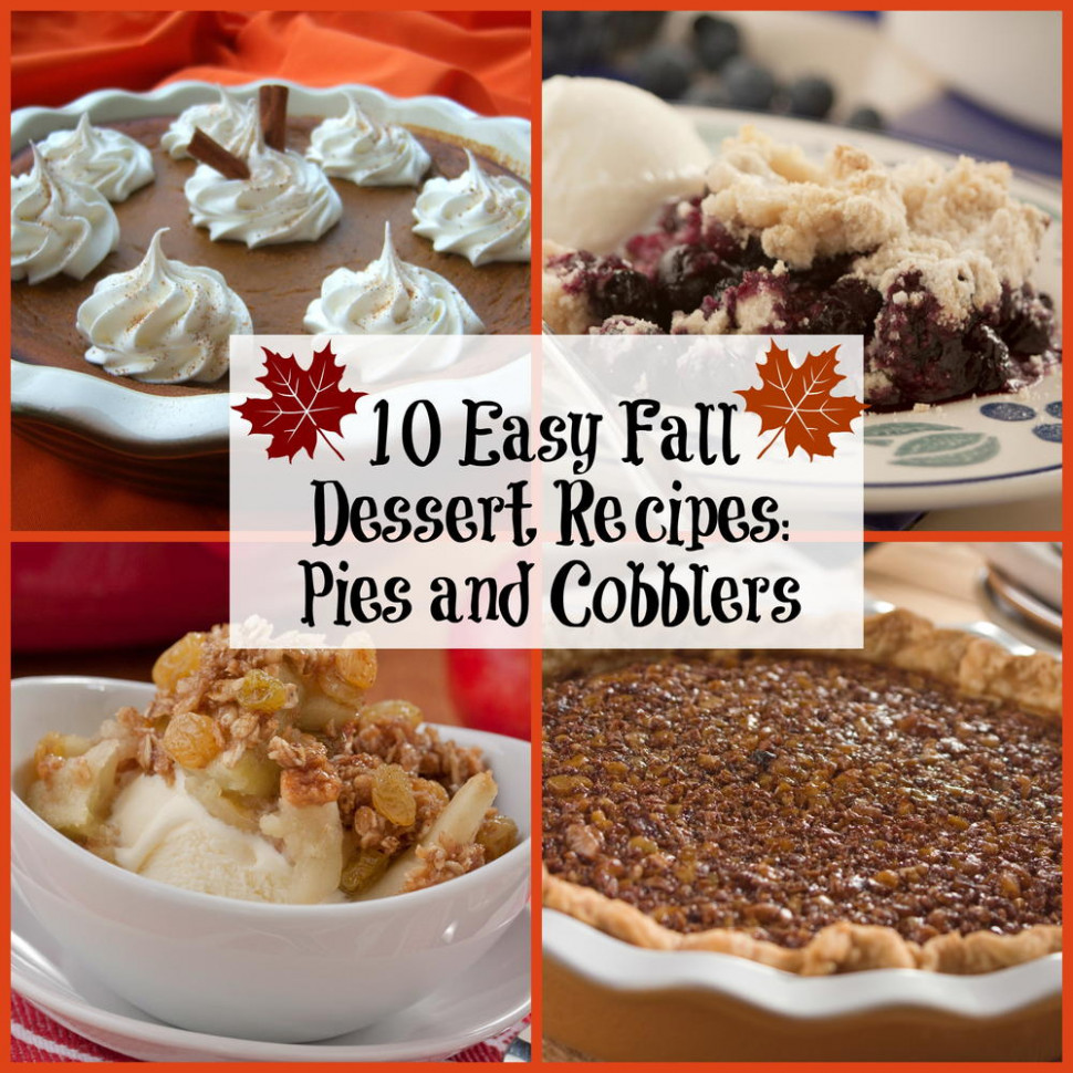 10 Easy Fall Dessert Recipes: Pies and Cobblers | MrFood