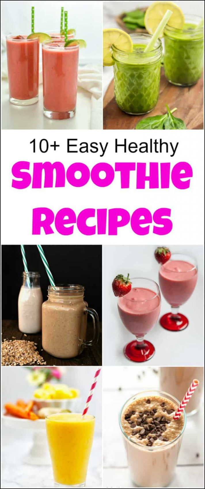 10+ Easy Healthy Smoothie Recipes Your Whole Family Will Love - healthy recipes your husband will love