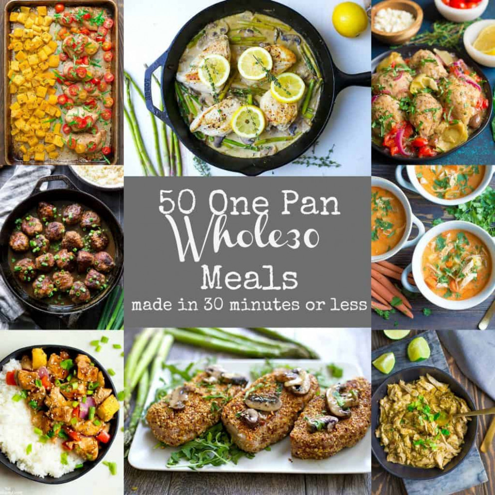 10 Easy Whole10 One Pan Meals - Wholesomelicious - recipes dinner fall