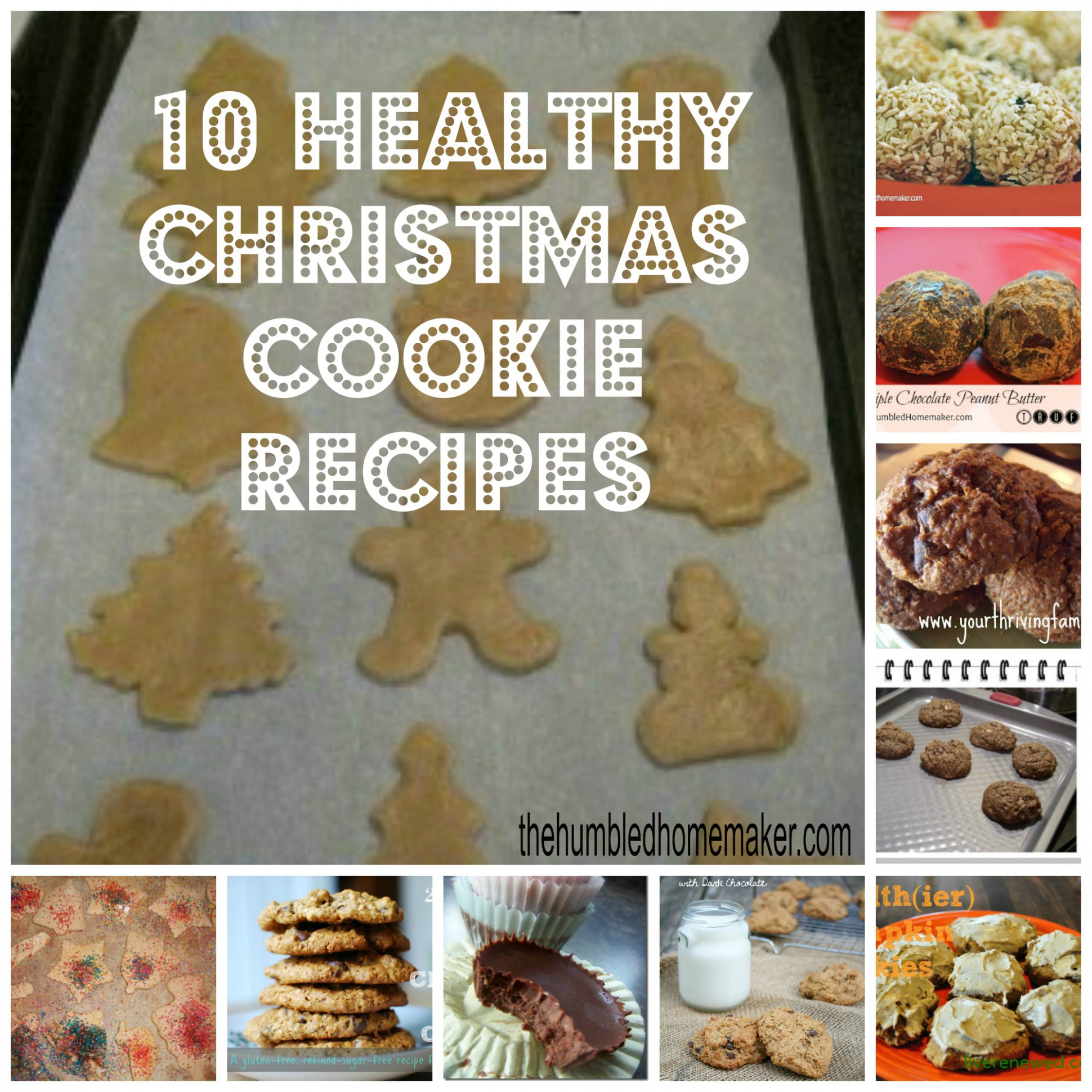 10 Healthy Christmas Cookie Recipes | The Humbled Homemaker - healthy xmas cookies recipes