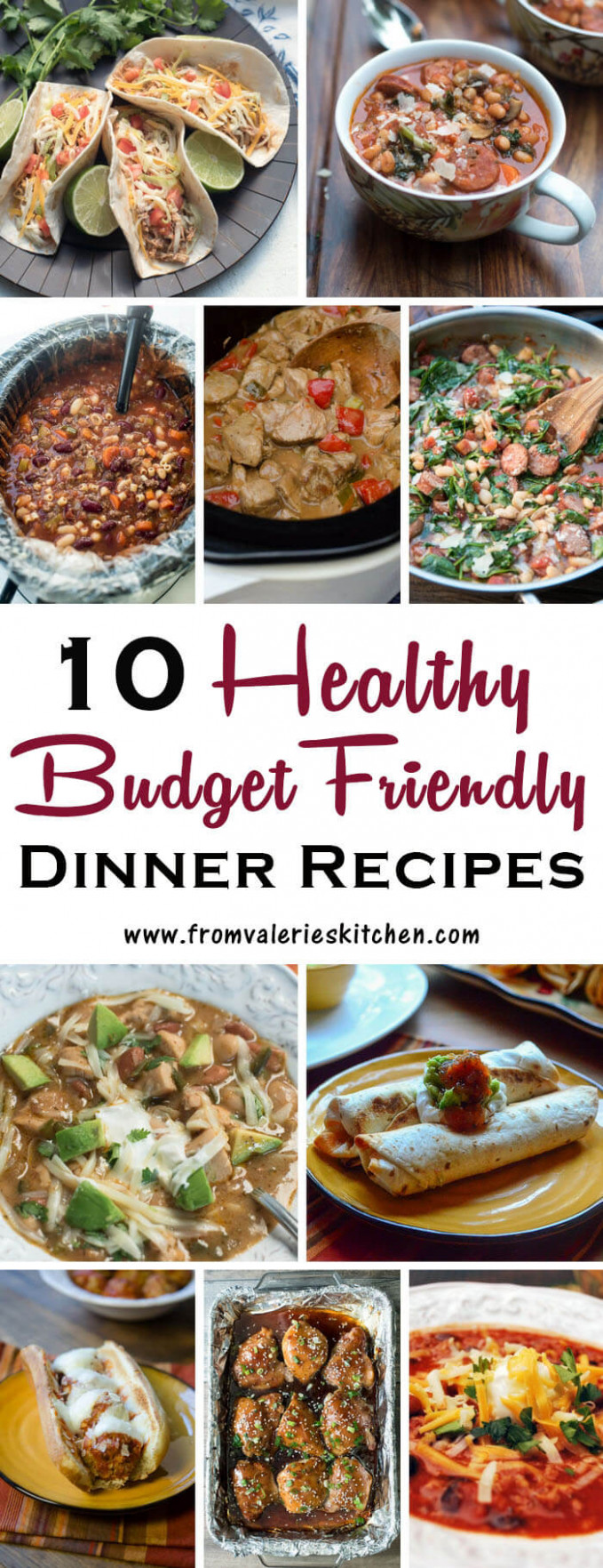 10 Healthy Dinner Recipes on a Budget | Valerie's Kitchen - recipes cheap dinner