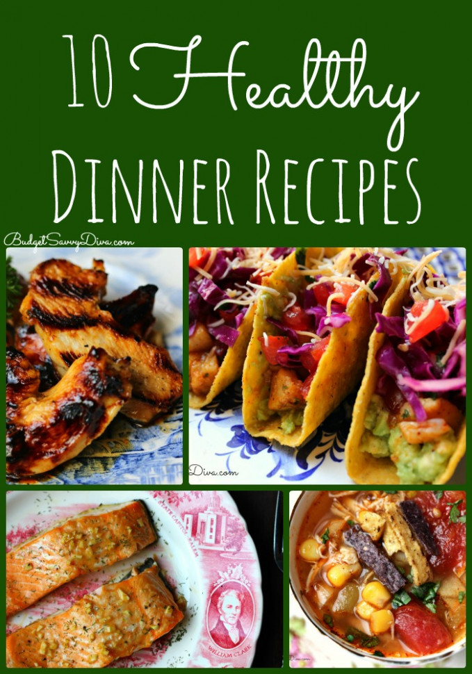 10 Healthy Dinner Recipes Roundup | Budget Savvy Diva - recipes list for dinner