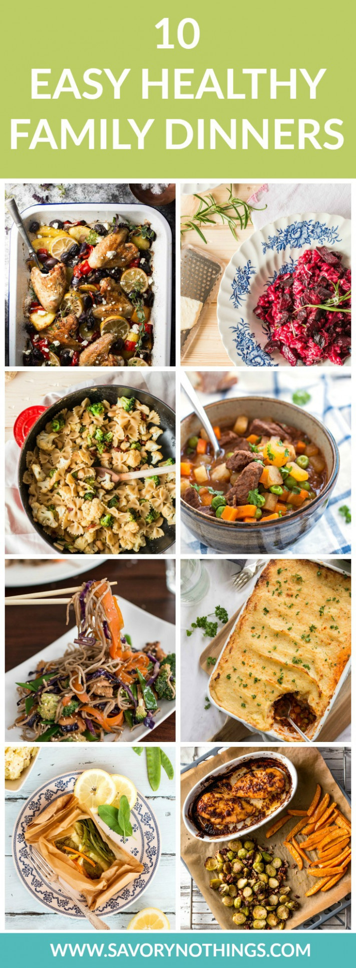 10 Healthy Family Dinners - Easy Recipes for Busy Weeknights - dinner recipes healthy family