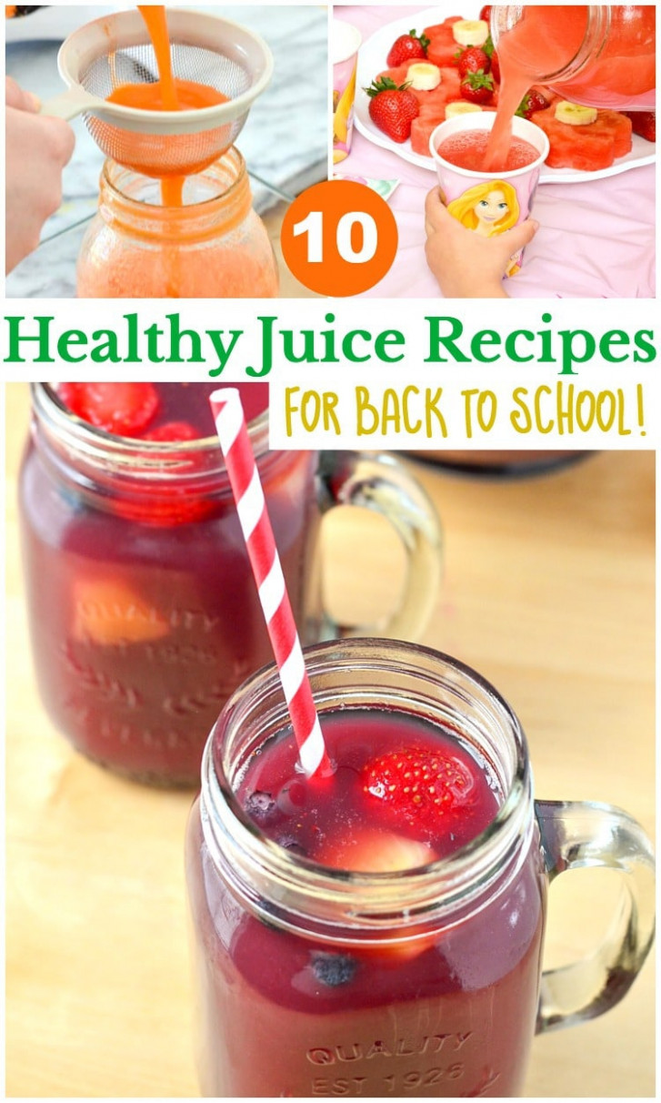 10 Healthy Juice Recipes for Back to School - Courtney's Sweets