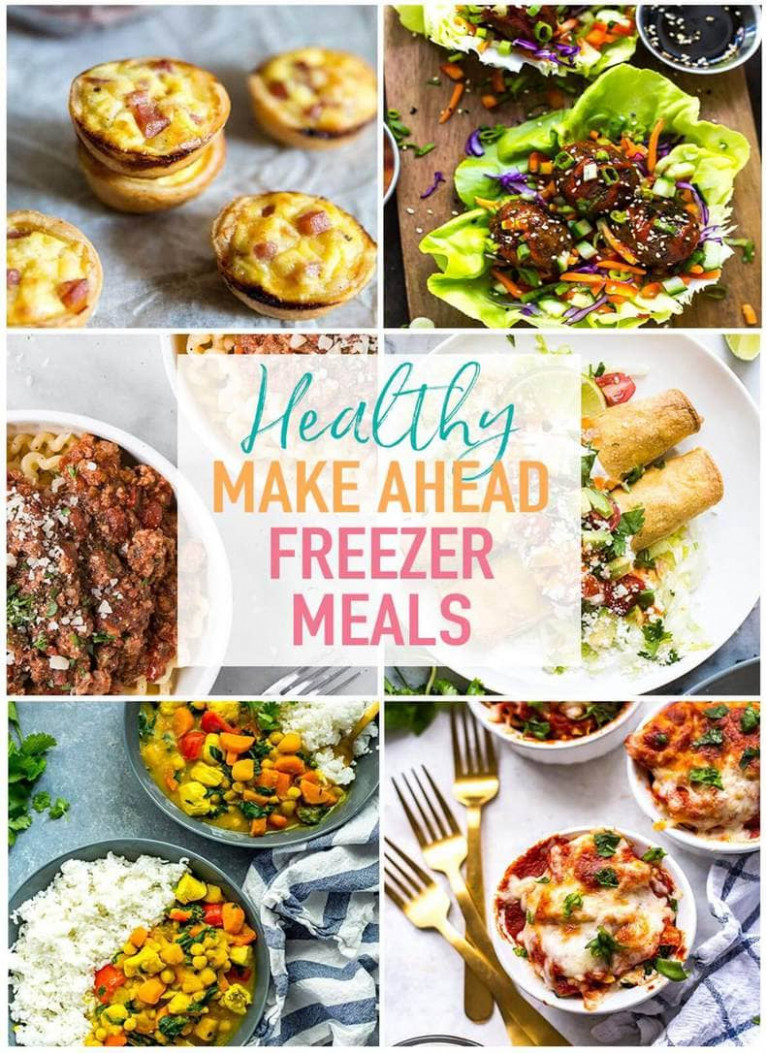 10 Healthy Make Ahead Freezer Meals for Busy Weeknights ..