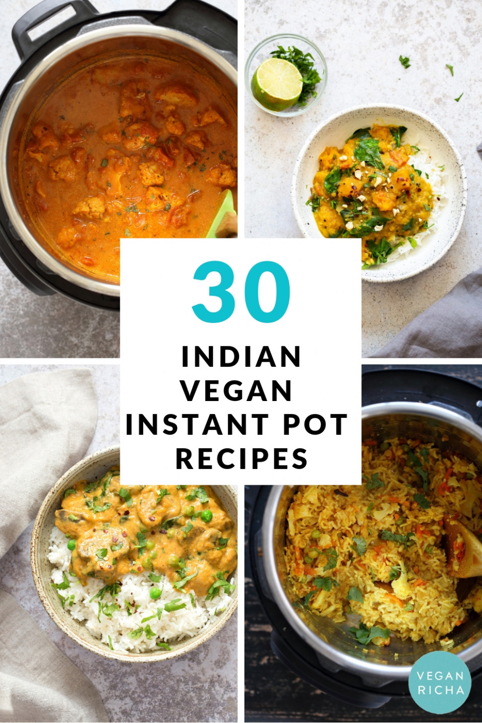 10 Instant Pot Vegan Indian Recipes - Vegan Richa - Recipes Butter Beans Vegetarian