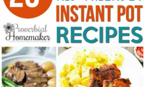 10+ Kid Friendly Instant Pot Recipes – Proverbial Homemaker – Food Recipes For Kids