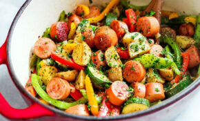 10 Minute Healthy Sausage And Veggies One Pot – Healthy Recipes Veggies