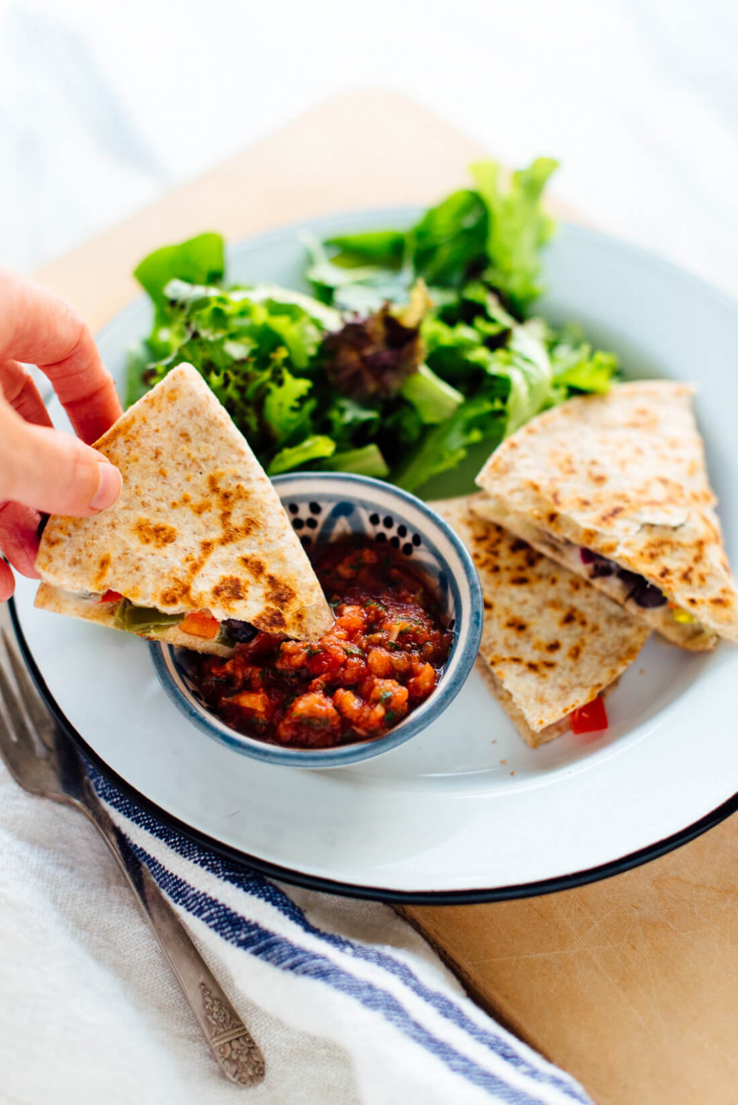 10-Minute Quesadillas Recipe - Cookie and Kate - vegetarian food recipes