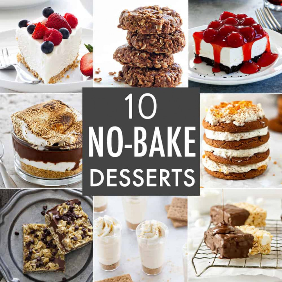 10 No-Bake Dessert Recipes - My Baking Addiction - dessert food recipes
