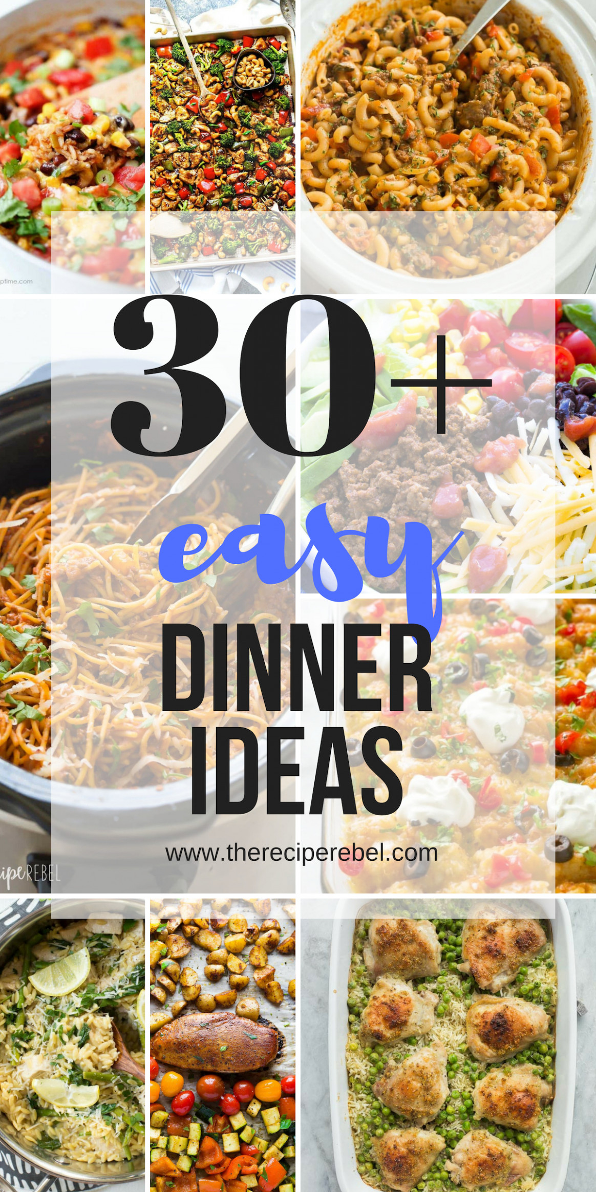 10+ Quick and Easy Dinner Ideas - family friendly! - The ..
