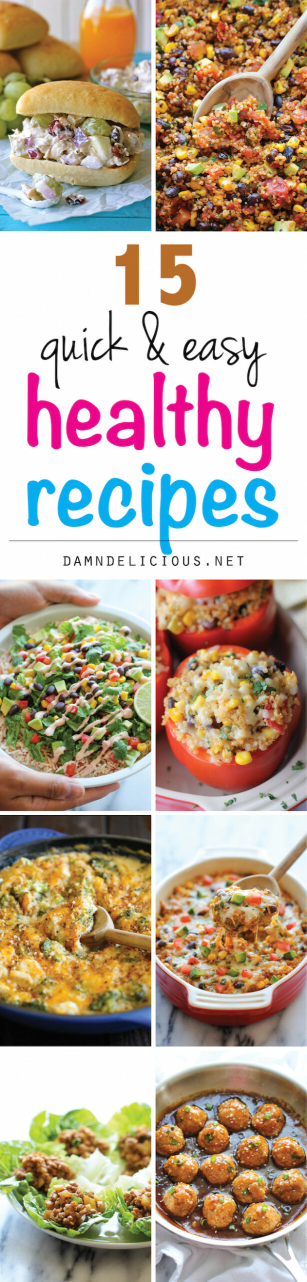 10 Quick and Easy Healthy Recipes - Damn Delicious - yummy healthy recipes