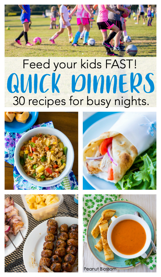 10 Quick Dinner Ideas For Your Busiest Soccer Nights - Food Recipes For Kids