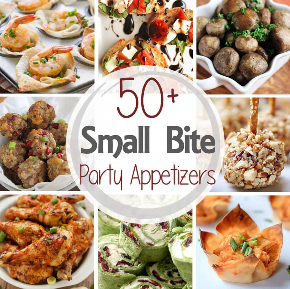 10+ Small Bite Party Appetizers - Julie's Eats & Treats ® - Recipes Starters Dinner Party