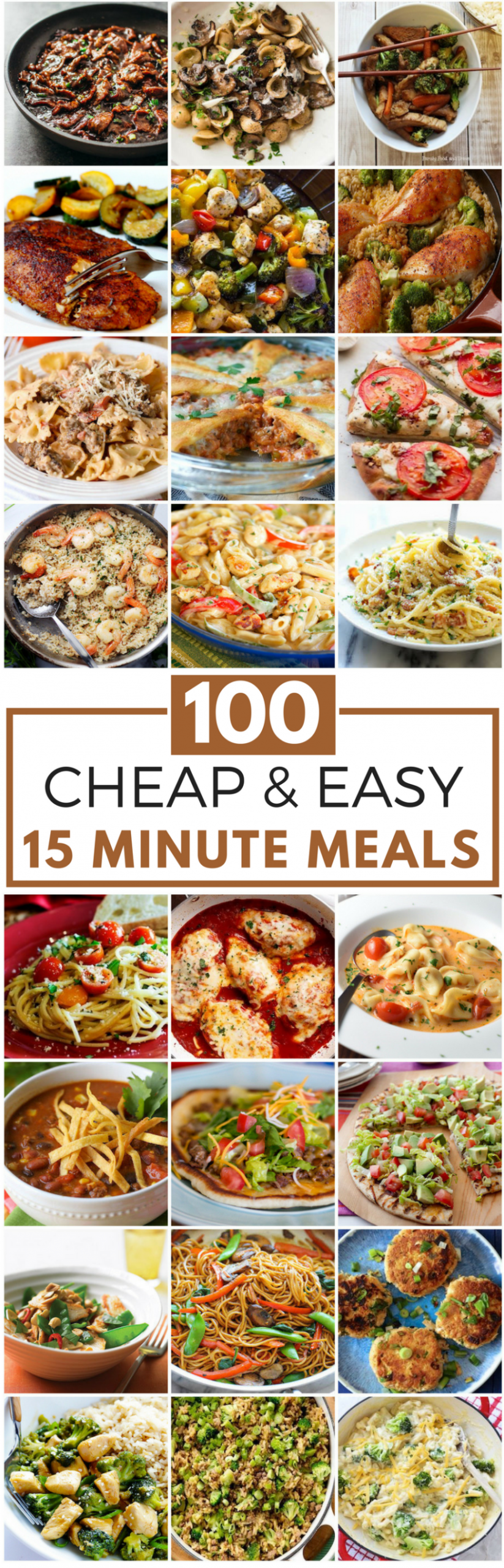 100 Cheap & Easy 15 Minute Meals | Main Dishes | Recetas ..