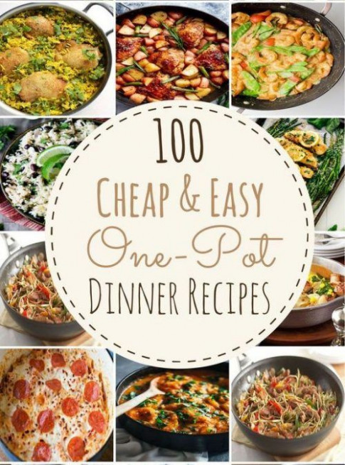 100 Cheap & easy One-Pot Dinner Recipes Single, low budget ..