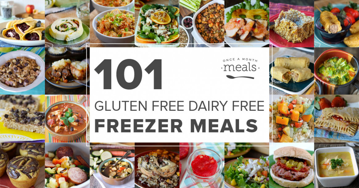 101 Gluten Free Dairy Free Freezer Meals | Once A Month Meals - Gluten Free Dairy Free Recipes Dinner