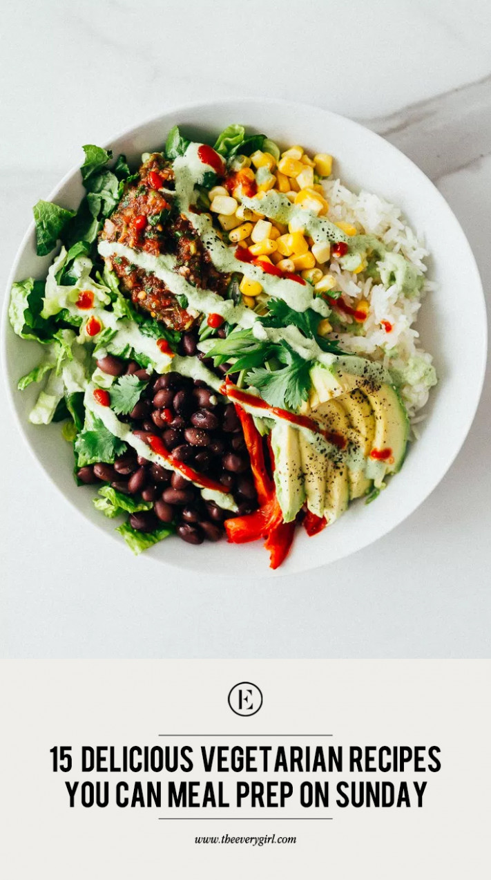 11 Delicious Vegetarian Recipes You Can Meal Prep On Sunday ..
