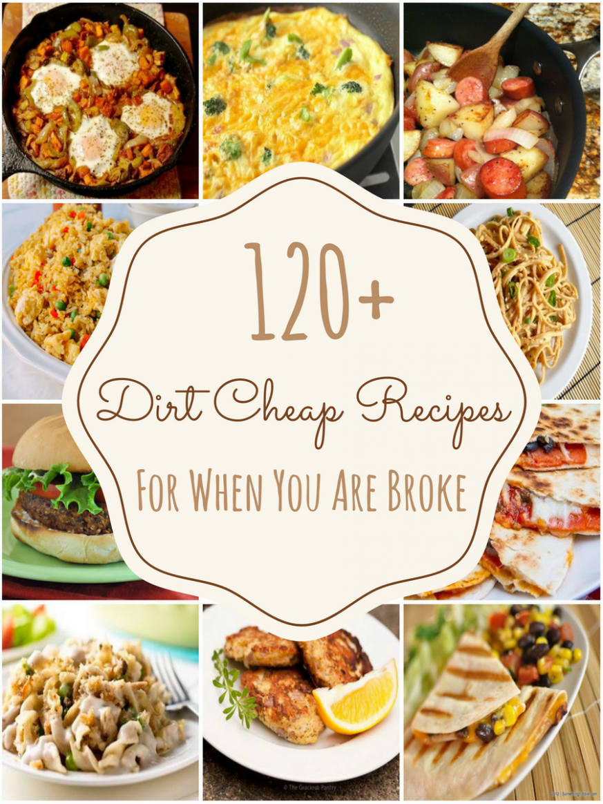 11 Dirt Cheap Recipes For When You Are Really Broke | Cheap ..