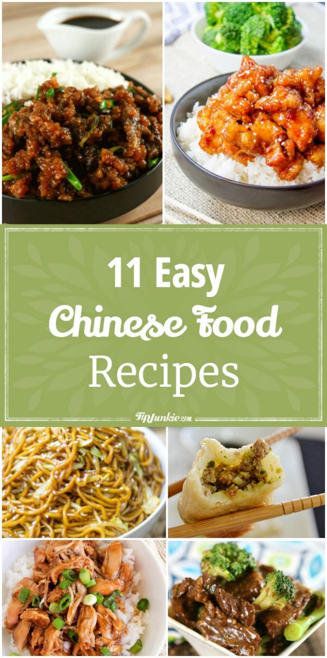11 Easy Chinese Food Recipes | Food - Chinese dishes ..