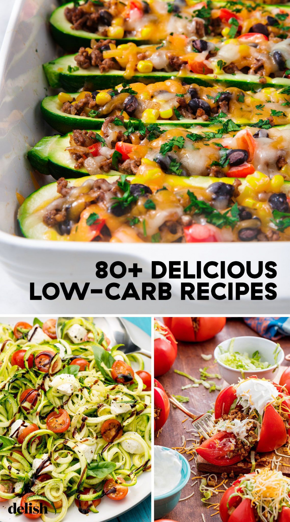 11+ Easy Low Carb Recipes - Best Low Carb Meal Ideas - dinner recipes delish