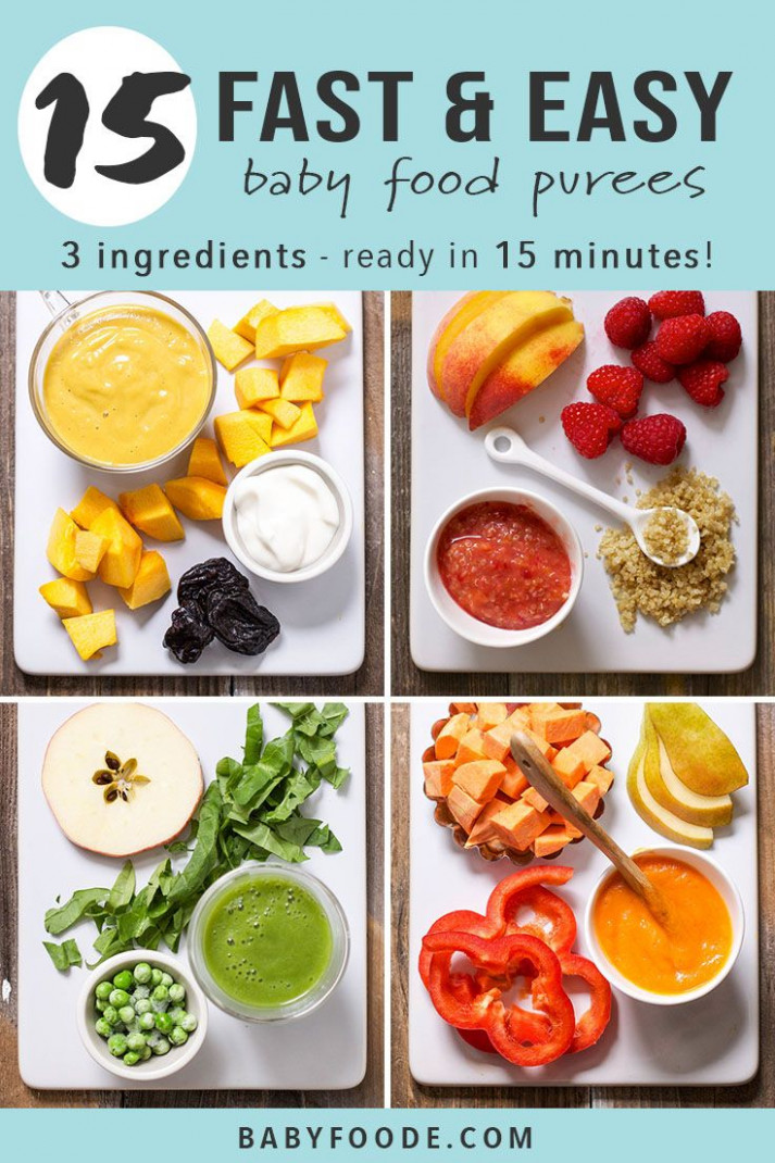 11 Fast Baby Food Recipes (made in under 11 minutes | Baby ..