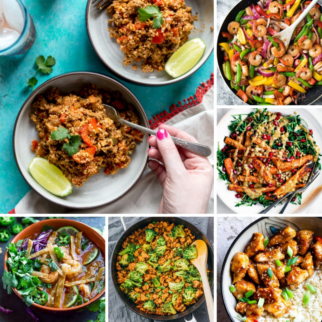 11 Fast Healthy Dinner Recipes for the New Year - Fox and Briar - easy healthy recipes dinner
