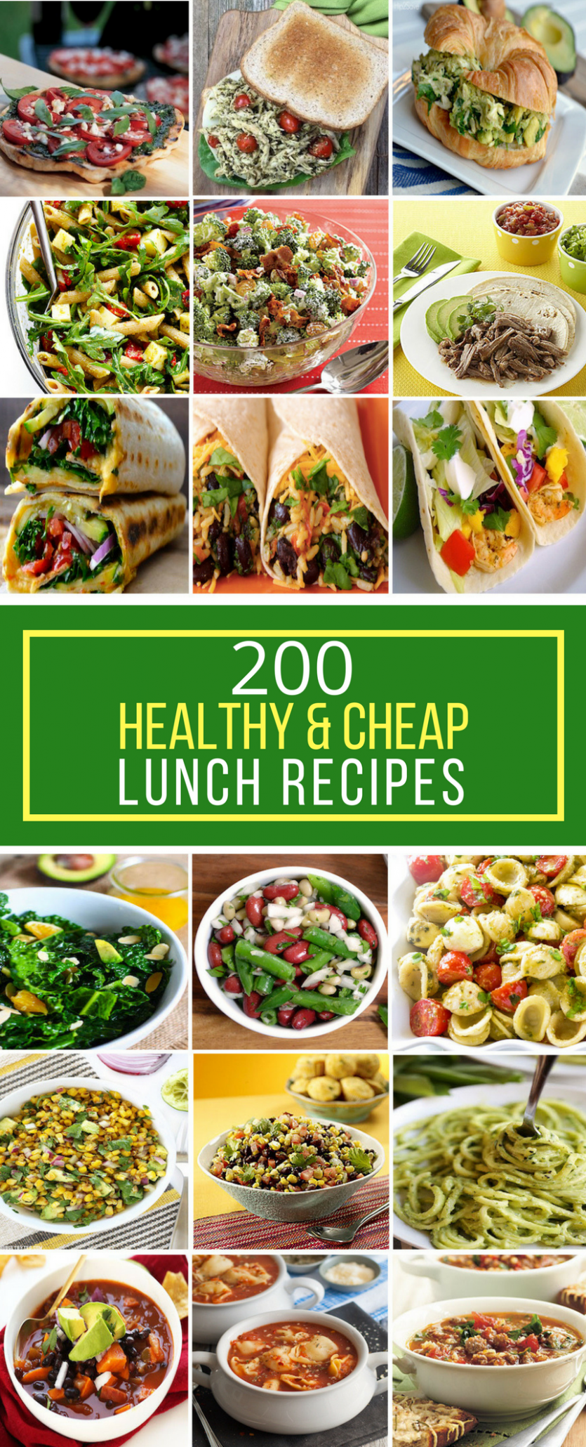 11 Healthy & Cheap Lunch Recipes - Prudent Penny Pincher - food recipes cheap