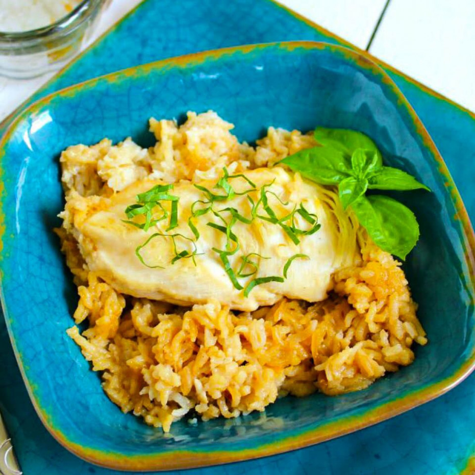 11 INGREDIENT CHICKEN & RICE BAKE - chicken recipes rice