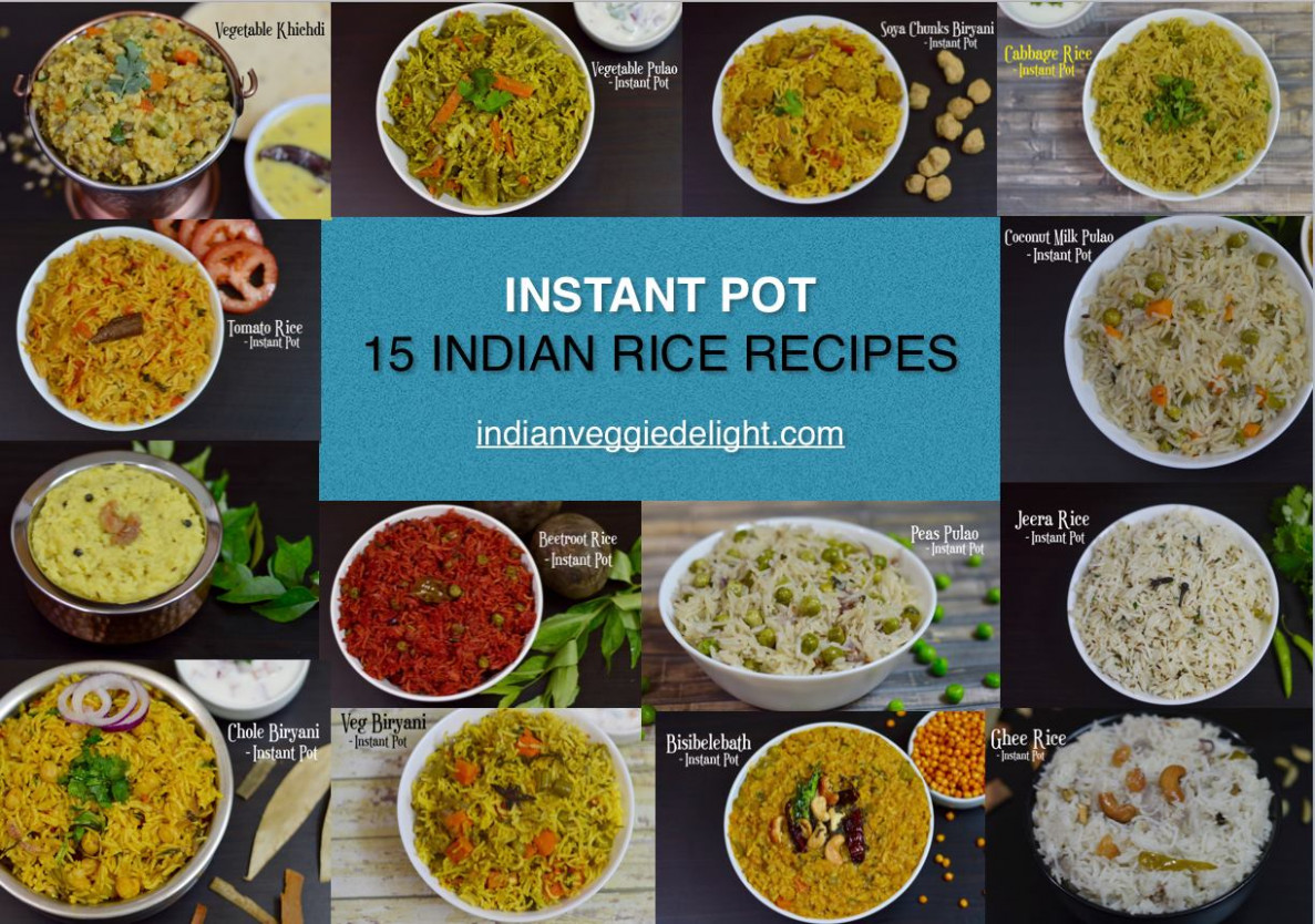 11 Instant Pot Indian Rice Recipes - Indian Veggie Delight - one pot rice recipes vegetarian indian