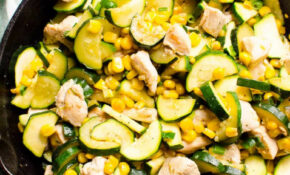 11 Minute Chicken Zucchini and Corn (Video) - iFOODreal ...