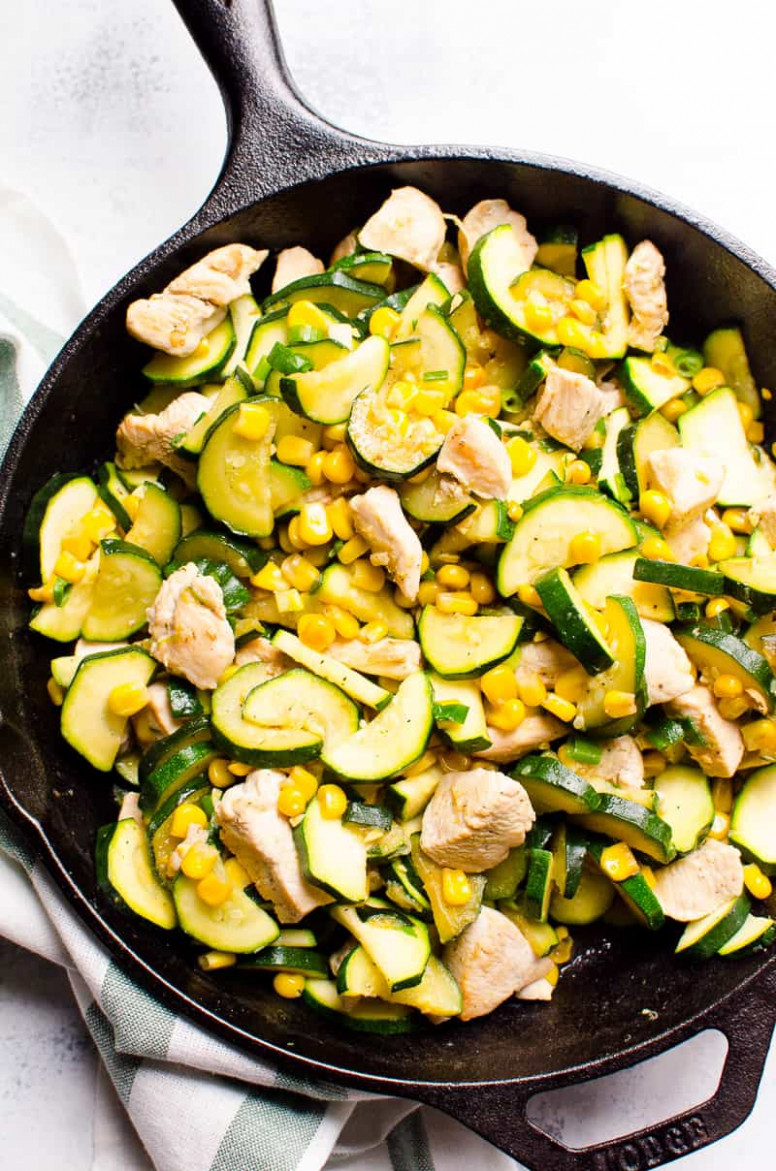 11 Minute Chicken Zucchini and Corn (Video) - iFOODreal ..