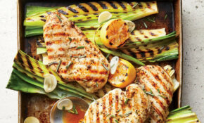 11 Minute Grilled Lemon Rosemary Chicken And Leeks – Rosemary Recipes Chicken