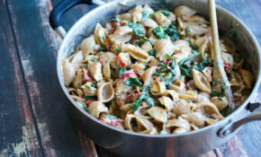 11 Minute Low Fat Chicken Florentine Pasta – Low Cholesterol Recipes Chicken