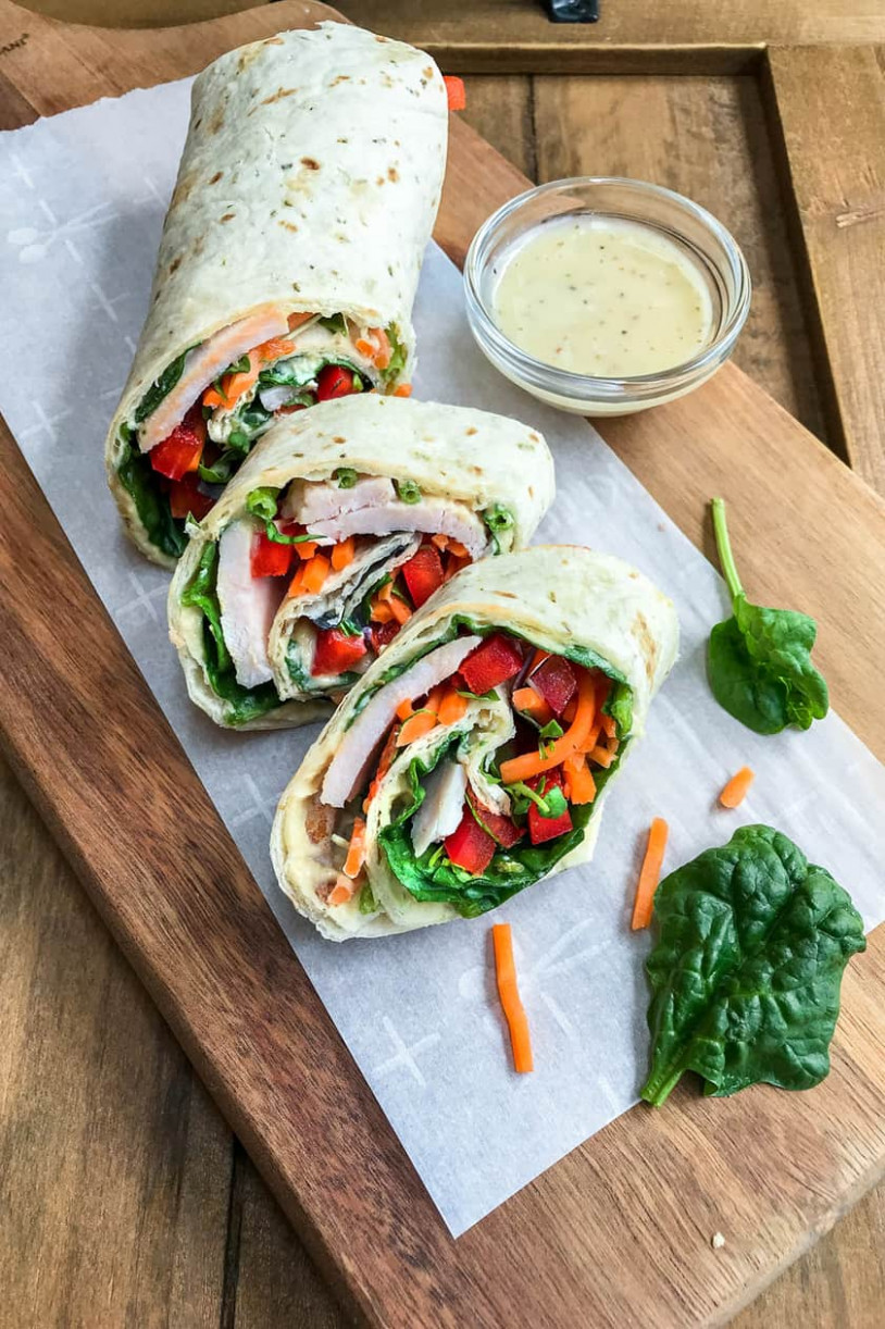 11 Minute Rainbow Protein Veggie Wraps - 11 Daily - vegetarian wraps and rolls recipes