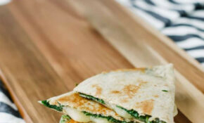 11-Minute Spinach Vegetarian Quesadillas