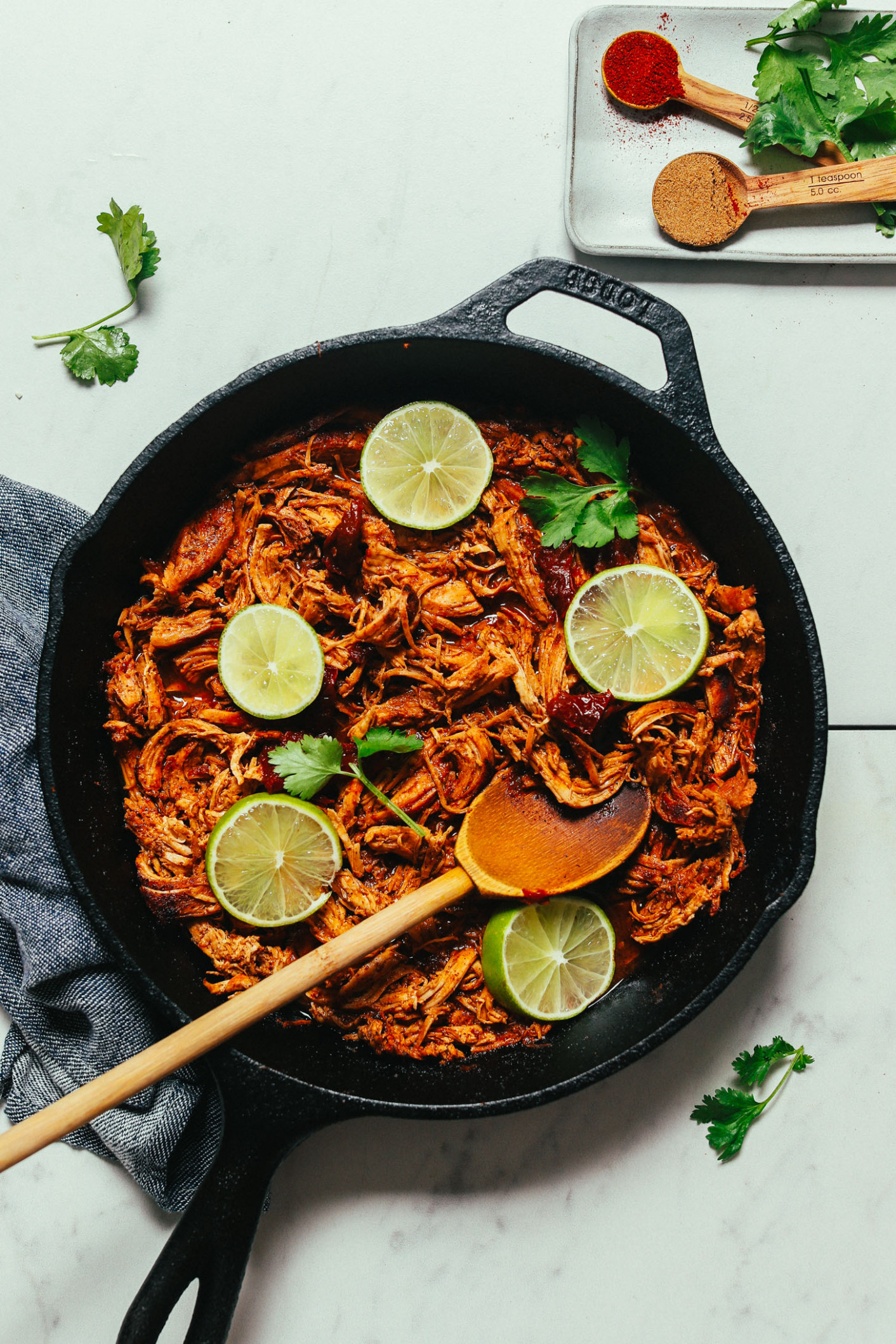 11-Pan Mexican Shredded Chicken | Minimalist Baker Recipes - recipes made with shredded chicken