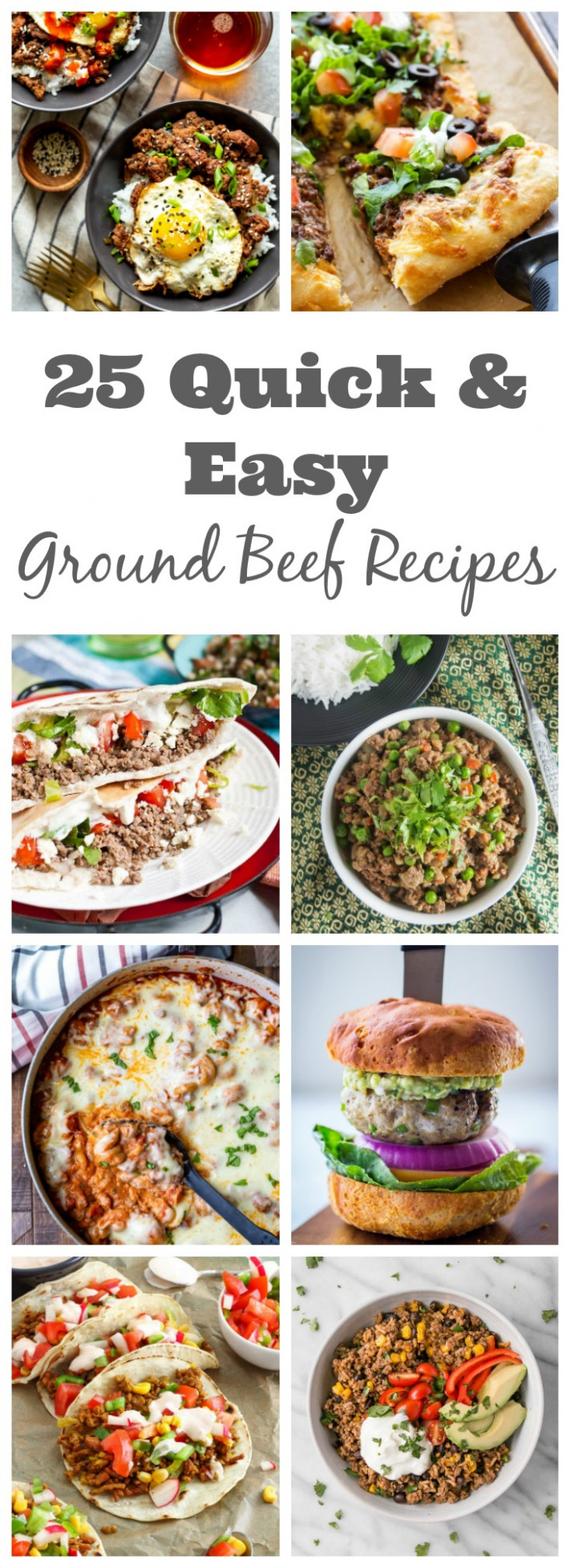 11 Quick & Easy Ground Beef Recipes - Fox and Briar - beef recipes dinner