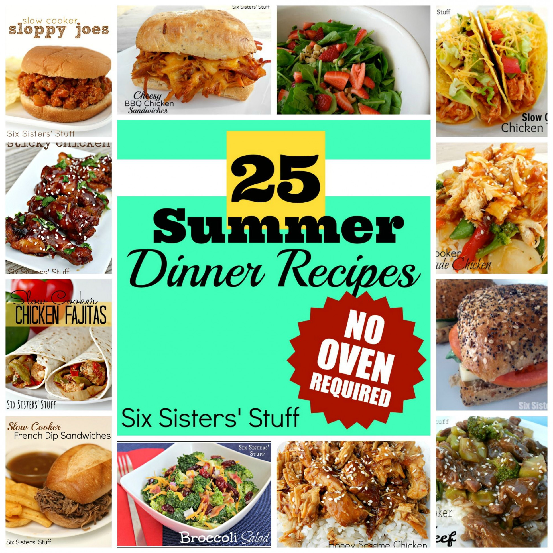 11 Summer Dinner Recipes From SixSistersStuff.com  No Oven ..