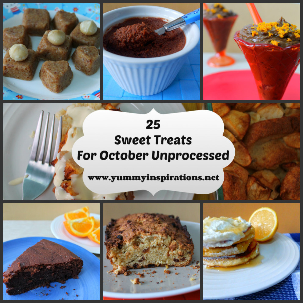 11 Sweet Treats For October Unprocessed - Unprocessed Food Recipes
