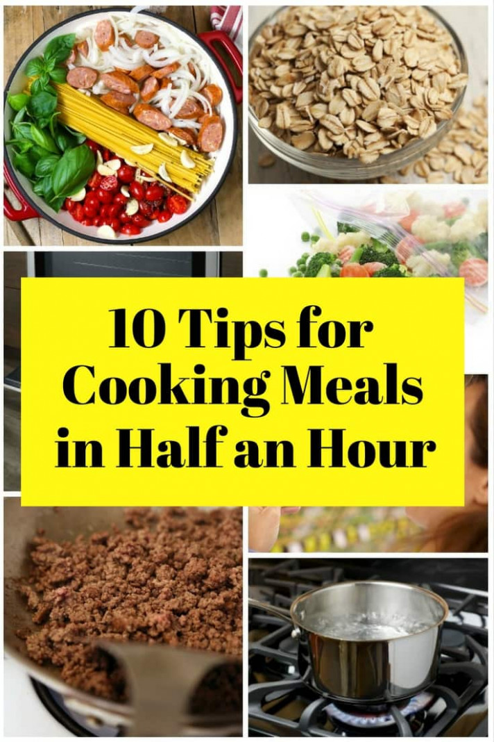 11 Tips For Cooking Meals In Half An Hour - The Budget Diet - Dinner Recipes Using Half And Half