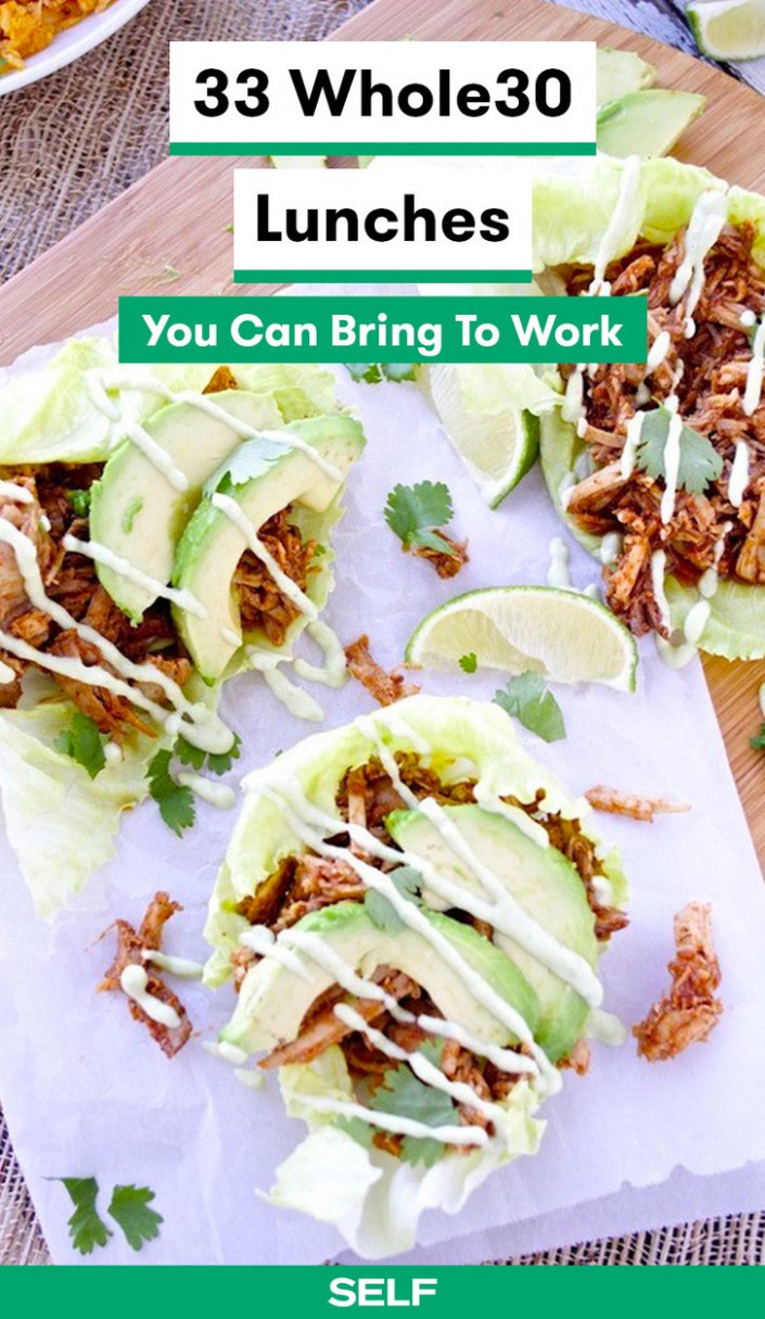 11 Whole11 Lunch Ideas You Can Bring To Work | SELF - Food Recipes For Lunch