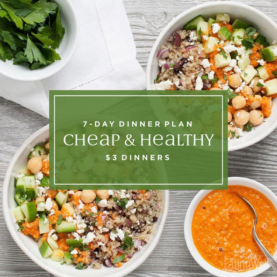 113-Day Meal Plan: Easy Cheap $13 Dinners | EatingWell - recipes dinner easy healthy
