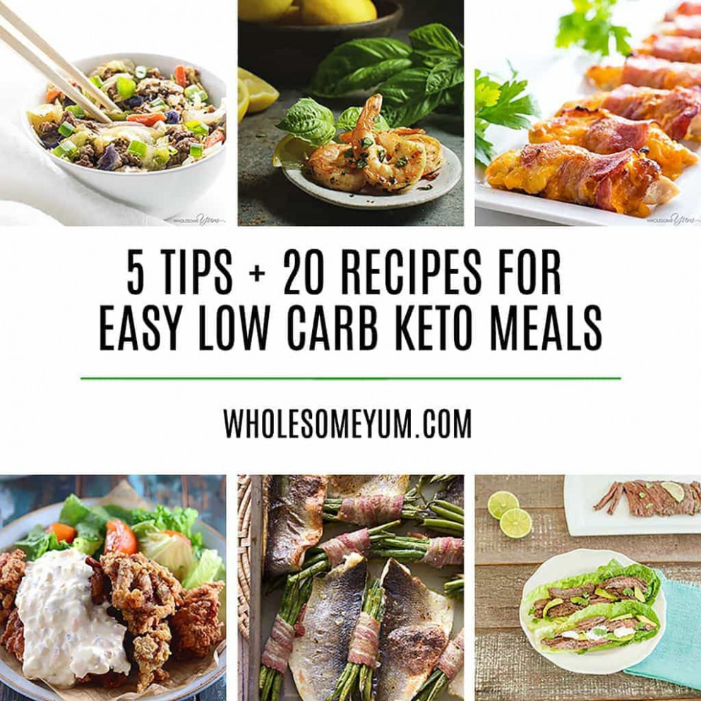 12 Delicious Easy Low Carb Keto Meals - Recipes, Ideas & Tips - food recipes easy to make