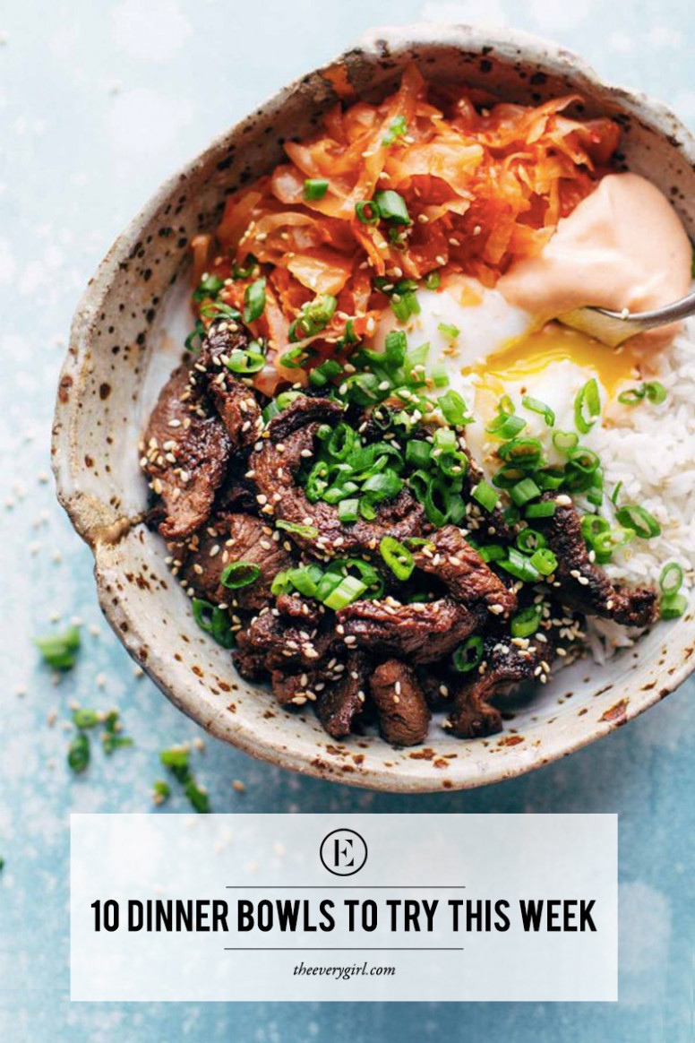12 Dinner Bowls to Try This Week - The Everygirl - recipes dinner bowls