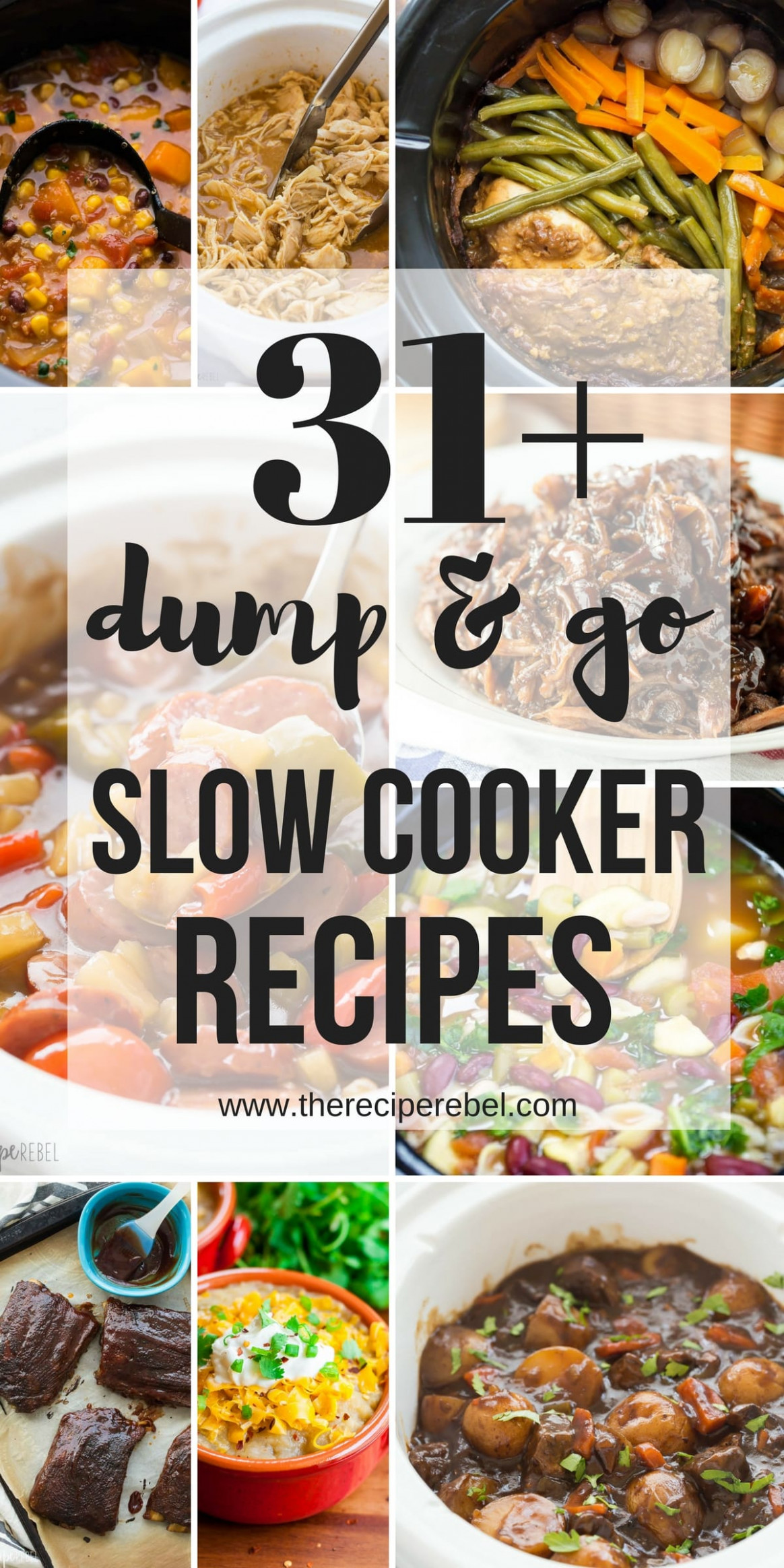 12 Dump And Go Slow Cooker Recipes (Crock Pot Dump Meals) - Recipes Dinner For One